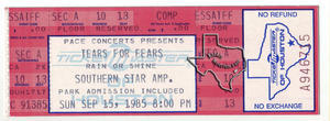 Tears for Fears - Sep 15, 1985 at Astroworld / Southern Star