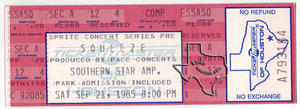 Squeeze - Sep 21, 1985 at Astroworld / Southern Star