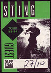 Sting - Oct 27, 1985 at The Summit