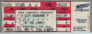 Ozzy Osbourne - May 9, 1986 at The Summit