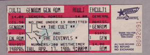 The Cult - Apr 17, 1986 at Numbers
