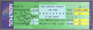The Firm - May 19, 1986 at The Summit