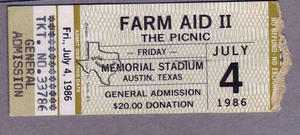 Farm Aid II - 1986 at Austin, Texas