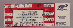 Tina Turner - Nov 25, 1987 at The Summit