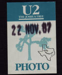 U2 - Nov 22, 1987 at Austin, Texas
