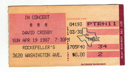 Crosby Stills and Nash (& Young), CSN&Y, CSN, Crosby / Nash - Apr 19, 1987 at Rockefellers