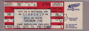 Jefferson Starship (Starship) - Sep 11, 1987 at Astroworld / Southern Star