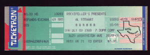 Al Stewart - Oct 9, 1988 at Rockefellers