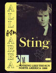 Sting - Mar 11, 1988 at The Summit
