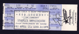 Rod Stewart - Apr 21, 1989 at Starplex, Dallas, Texas