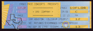 Bad Company - Sep 6, 1990 at Sam Houston Coliseum