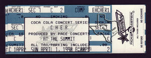 Cher - Apr 1, 1990 at The Summit