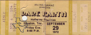 Rare Earth - Sep 29, 1972 at Hofheinz Pavilion
