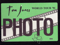 Tom Jones - Aug 11, 1991 at The Woodlands Pavilion
