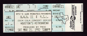 Big Audio Dynamite (BAD) - Mar 21, 1992 at Astro Arena