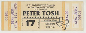 Peter Tosh - Feb 17, 1979 at Texas Opry House