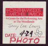 Jerry Lee Lewis - Apr 29, 1995 at The Woodlands Pavilion
