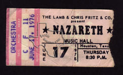 Nazareth - Jun 17, 1976 at Houston Music Hall