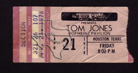 Tom Jones - Apr 21, 1978 at Hofheinz Pavilion