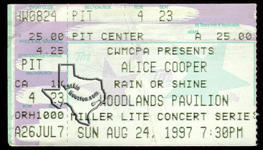 Alice Cooper - Aug 24, 1997 at The Woodlands Pavilion