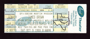 James Brown - Oct 9, 1999 at Aerial Theater