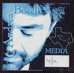 Andrea Bocelli - Apr 12, 2000 at The Compaq Center, Houston, Texas