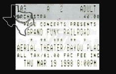 Grand Funk Railroad - Mar 19, 1998 at Aerial Theater