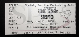 Eddie Izzard - Jun 11, 2008 at Jones Hall