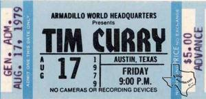 Tim Curry - Aug 17, 1979 at Armadillo World Headquarters, Austin, Texas