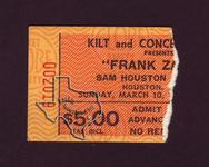 Frank Zappa - Mar 10, 1974 at Sam Houston Coliseum
