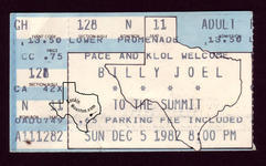 Billy Joel - Dec 5, 1982 at The Summit