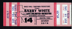 Barry White - Apr 14, 1979 at Hofheinz Pavilion