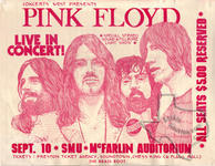 Pink Floyd - Sep 10, 1972 at Dallas Moody Coliseum