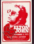 Elton John - Nov 5, 1972 at Dallas Moody Coliseum