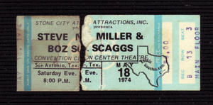 Steve Miller Band - May 18, 1974 at San Antonio, Texas