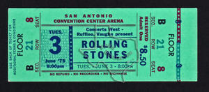 The Rolling Stones - Jun 3, 1975 at San Antonio, Texas