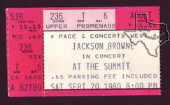 Jackson Browne - Sep 20, 1980 at The Summit