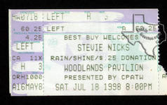 Stevie Nicks - Jul 18, 1998 at The Woodlands Pavilion