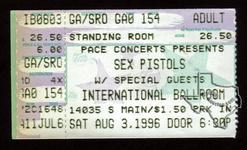 Sex Pistols - Aug 3, 1996 at International Ballroom