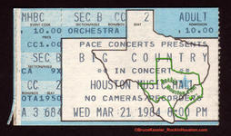 Big Country - Mar 21, 1984 at Houston Music Hall