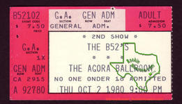 B52s - Oct 2, 1980 at Agora Ballroom