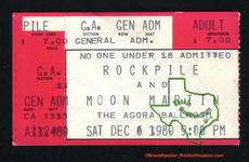 Rockpile - Dec 6, 1980 at Agora Ballroom