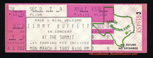 Jimmy Buffett - Mar 8, 1982 at The Summit