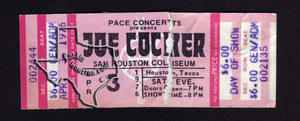 Joe Cocker - Apr 3, 1976 at Sam Houston Coliseum