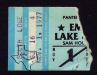 Emerson Lake & Palmer - Nov 1, 1977 at Sam Houston Coliseum