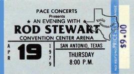 Rod Stewart (also see Faces) - Apr 19, 1979 at San Antonio, Texas