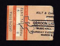 Gordon Lightfoot - Mar 9, 1972 at Houston Music Hall