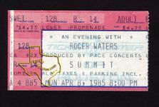Roger Waters - Apr 8, 1985 at The Summit