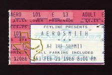Aerosmith - Feb 21, 1986 at The Summit