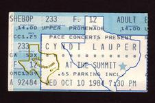 Cyndi Lauper - Oct 10, 1984 at The Summit